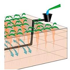 Grafik Funktionsweise Hochbeet Bewässerungssystem